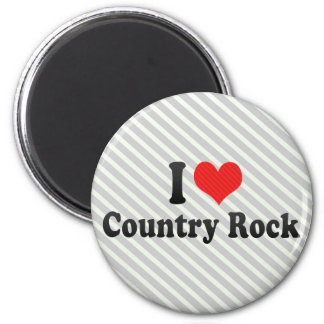 I Love Country Rock Refrigerator Magnets