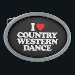 "I LOVE COUNTRY WESTERN DANCE OVAL BELT BUCKLE<br><div class=""desc"">I LOVE COUNTRY WESTERN DANCE</div>"
