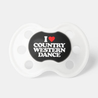 I LOVE COUNTRY WESTERN DANCE PACIFIER