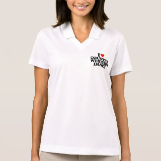 I LOVE COUNTRY WESTERN DANCE POLO SHIRT