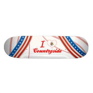 I Love Countryside, Illinois Skate Board Decks