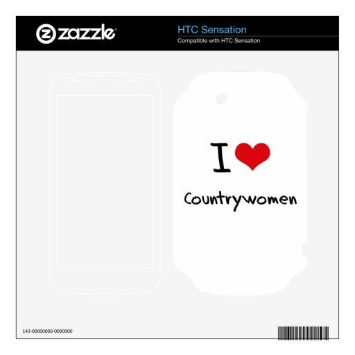 I love Countrywomen HTC Sensation Decals