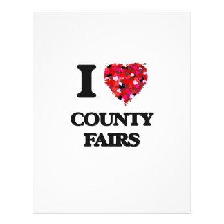 "I love County Fairs 8.5"" X 11"" Flyer"