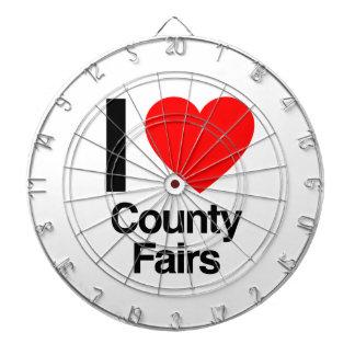 i love county fairs dart board