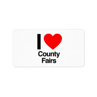 i love county fairs personalized address label