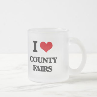 I love County Fairs 10 Oz Frosted Glass Coffee Mug