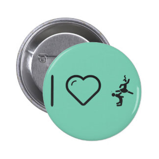 I Love Couple Karates 2 Inch Round Button