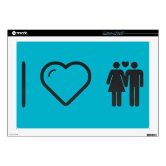 I Love Couple Strolls Skin For Laptop