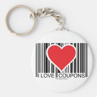 I Love Coupons Keychain