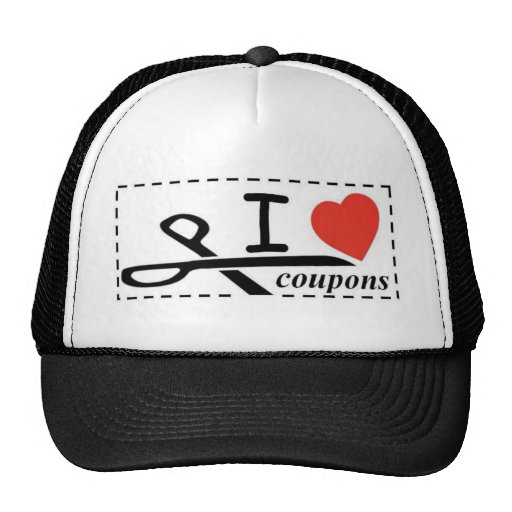I LOVE COUPONS MESH HAT