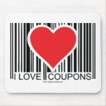 I Love Coupons Mouse Pad