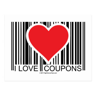 I Love Coupons Postcard