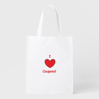 I Love Coupons Reusable Grocery Bag