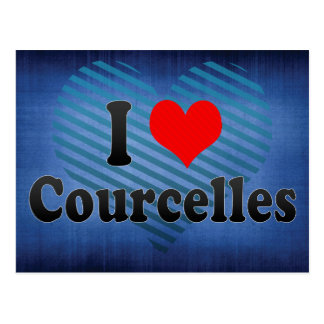 I Love Courcelles, Belgium Postcard