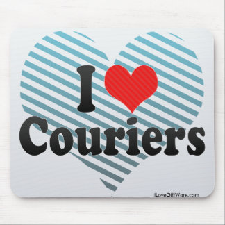 I Love Couriers Mouse Pad