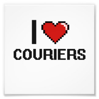 I love Couriers Photo Print