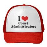 I Love Court Administrators Hats