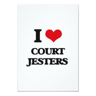 I love Court Jesters 3.5x5 Paper Invitation Card