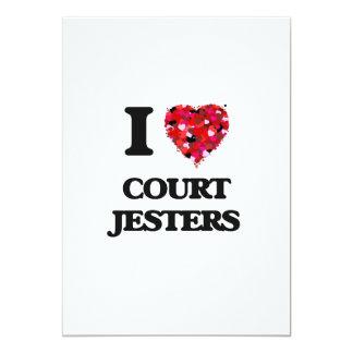 I love Court Jesters 5x7 Paper Invitation Card