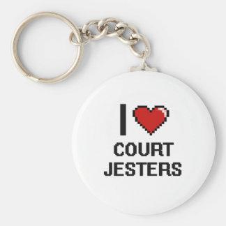 I love Court Jesters Basic Round Button Keychain