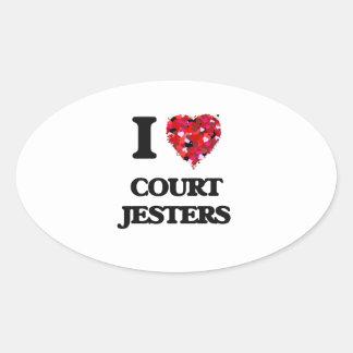 I love Court Jesters Oval Sticker