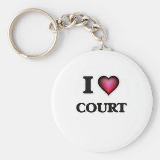 I love Court Keychain
