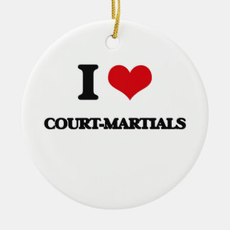 I love Court-Martials Double-Sided Ceramic Round Christmas Ornament