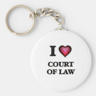 I love Court Of Law Keychain
