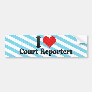 I Love Court Reporters Bumper Stickers