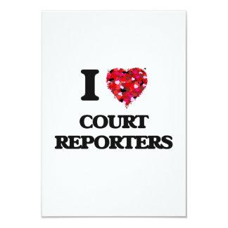 I love Court Reporters 3.5x5 Paper Invitation Card