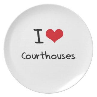 I love Courthouses Plates