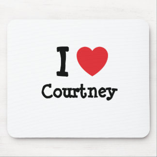 I love Courtney heart custom personalized Mouse Mats