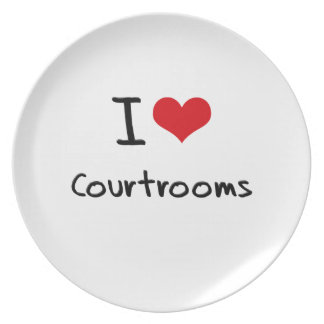 I love Courtrooms Dinner Plate