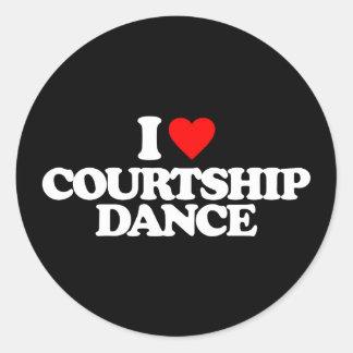 I LOVE COURTSHIP DANCE CLASSIC ROUND STICKER