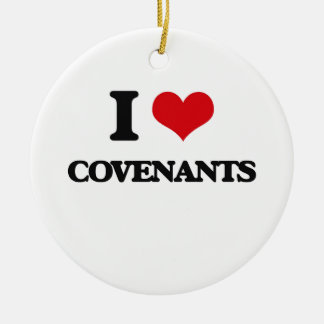 I love Covenants Double-Sided Ceramic Round Christmas Ornament