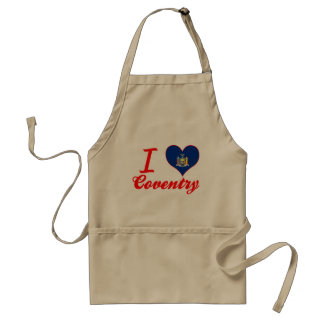 I Love Coventry New York Aprons