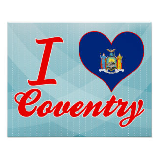 I Love Coventry, New York Poster