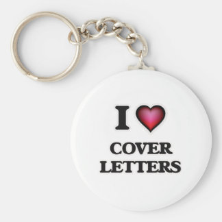 I love Cover Letters Keychain