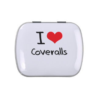 I love Coveralls Jelly Belly Candy Tins