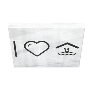 I Love Covered Shields Canvas Print