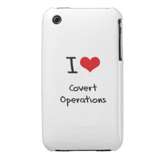 I love Covert Operations iPhone 3 Case