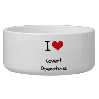 I love Covert Operations Pet Water Bowl