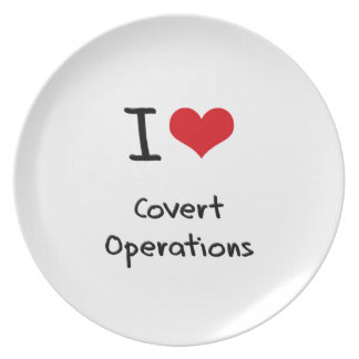 I love Covert Operations Party Plate