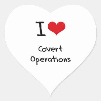I love Covert Operations Heart Sticker