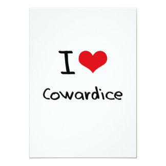 """I love Cowardice 5"""" X 7"""" Invitation Card"""