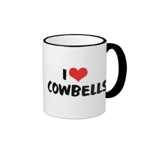 I Love Cowbells Ringer Coffee Mug