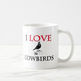 I Love Cowbirds Classic White Coffee Mug