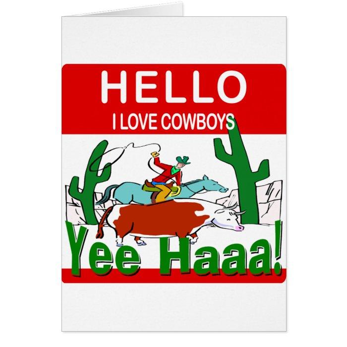 I Love Cowboys Card