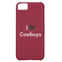 I Love Cowboys iPhone 5C Cover