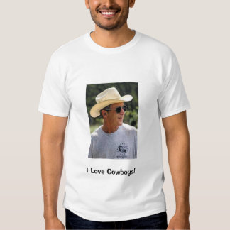 I Love Cowboys & George Bush Tee Shirt